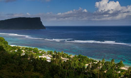 Het strandmening van het paradijs royalty-vrije stock foto