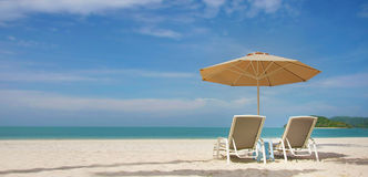 Het strandmening van het zand Royalty-vrije Stock Foto