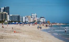 Het Strandmening van Miami Royalty-vrije Stock Fotografie