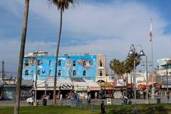 Het Strandmuurschildering van Venetië stock foto's