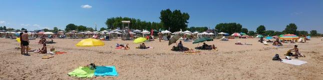 Het strandpanorama van Bulgarije Krapets Stock Afbeeldingen