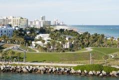 Het Strandpark van Miami Stock Afbeeldingen