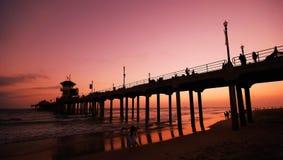 Het strandpijler van Huntington Royalty-vrije Stock Foto