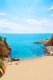 Het strandplatja van Tossa de Mar Codolar in Costa Brava Stock Foto