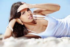 Het strandreeks van de zomer stock foto's