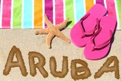 Het strandreis van Aruba stock afbeelding