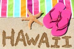 Het strandreis van Hawaï Stock Fotografie