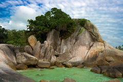 Het strandrotsen van Lamai stock fotografie