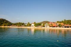 Het strandscène Mexico van Huatulco stock foto