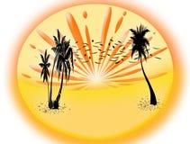 Het strandscène van de zomer Royalty-vrije Stock Afbeeldingen
