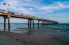 Het strandscène van Florida stock foto