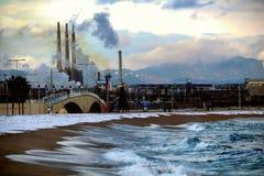 Het Strandsneeuwval van Barcelona Royalty-vrije Stock Fotografie