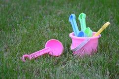 Het strandspeelgoed van kinderen Stock Foto's