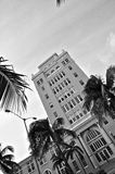 Het Strandstadhuis B&W van Miami royalty-vrije stock foto