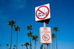 Het strandtekens van Californië Stock Afbeeldingen