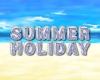 Het Strandtekst van de de zomervakantie Royalty-vrije Stock Foto