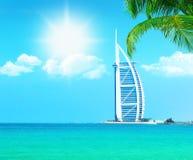 Het strandtoevlucht van Doubai stock afbeelding