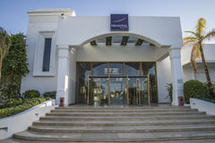 Het strandtoevlucht van het hotel novotel (ontvangst) Royalty-vrije Stock Afbeeldingen