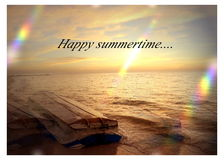 Het strandvakantie van de de zomertijd Royalty-vrije Stock Afbeeldingen