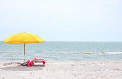 Het strandvakantie van de zomer Stock Foto