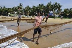 Het Strandvisser van Srilankan Royalty-vrije Stock Afbeeldingen