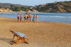 Het strandvoetbal van Brazilië Royalty-vrije Stock Foto