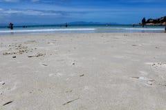 Het Strandzand van vissenhoek Stock Foto