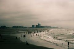 Het strandzeegezicht van Oostende Stock Foto
