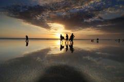 Het strandzonsondergang van Kuta Stock Afbeelding