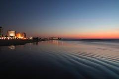 Het strandzonsondergang van Tel Aviv royalty-vrije stock afbeelding