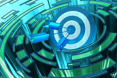 Het strategische bedrijfsoplossing en marketing concept van het strategiedoel Royalty-vrije Stock Afbeelding