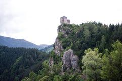 Het Strecno-kasteel Stock Afbeeldingen