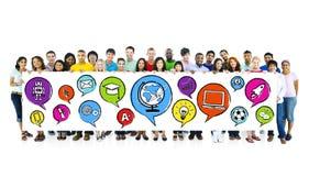 Het streven de Holdingsbanner van Middelbare schoolstudenten Stock Fotografie