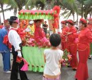 Het streven naar dagfestival in hainan, China Stock Foto