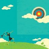 Het streven naar een hoog doel royalty-vrije illustratie
