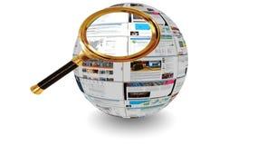 Het streven van naar Magnifier stock illustratie