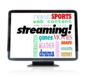 Het stromen Inhoud op HDTV de Programma's van het Televisiehorloge stock illustratie