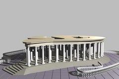 Het structuurtype van paviljoen 2-02 Stock Foto's