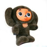 Het stuk speelgoed Cheburashka van de pluche Stock Afbeelding