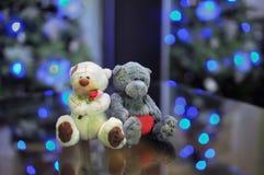 Het stuk speelgoed draagt paar in liefde Stock Foto's