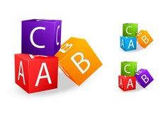 Het stuk speelgoed kubeert met brief B c Royalty-vrije Stock Foto