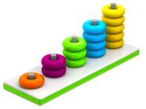 Het stuk speelgoed noteert kleurrijke blokken Royalty-vrije Stock Afbeeldingen