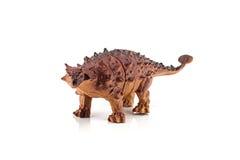 Het stuk speelgoed van Ankylosaurusdinosaurussen cijfer Stock Afbeelding