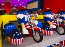 Het Stuk speelgoed van blauwe M&M Royalty-vrije Stock Fotografie
