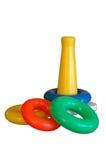 Het stuk speelgoed van de baby geïsoleerde, ringen, Stock Foto's