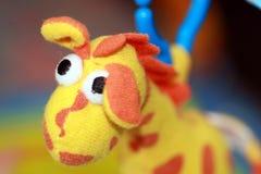 Het stuk speelgoed van de baby giraf royalty-vrije stock afbeeldingen
