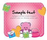 Het stuk speelgoed van de baby kaart Royalty-vrije Stock Afbeelding