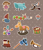 Het stuk speelgoed van de baby stickers Stock Afbeeldingen