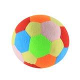 Het Stuk speelgoed van de bal (dat op wit wordt geïsoleerdl) stock afbeelding