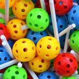 Het stuk speelgoed van de ballenbouw Stock Foto